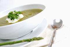 Asparagus soup Stock Photos