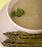 Asparagus soup Royalty Free Stock Images