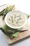 Asparagus soup Stock Images