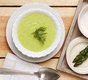 Asparagus soup Stock Photo