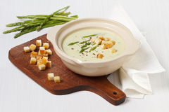 Asparagus soup cream Royalty Free Stock Photo