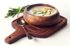 Asparagus soup cream Stock Images