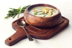 Asparagus soup cream Stock Images
