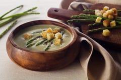 Asparagus soup cream Stock Photo