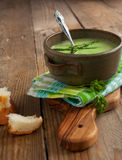 Asparagus soup cream. (Selective Focus) Stock Photography
