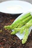 Asparagus soup. Royalty Free Stock Photos