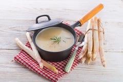 Asparagus Soup. A fresch nad tasty Asparagus Soup Stock Photos