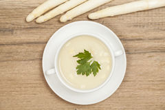 Asparagus soup Royalty Free Stock Image