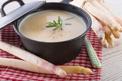 Asparagus Soup. A fresh and tasty Asparagus Soup Royalty Free Stock Image