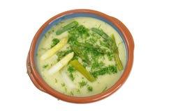 Asparagus soup Stock Images