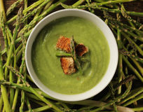 Asparagus soup Royalty Free Stock Photos