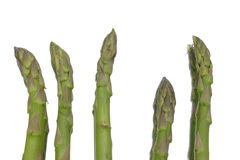 Asparagus Spears. With reflections isolated royalty free stock photos