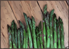 Asparagus spears Stock Photography