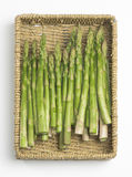 Asparagus Spears in Basket Royalty Free Stock Images