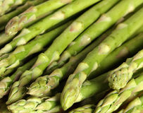 Asparagus spears group. Close-up view of a group of asparagus spears royalty free stock photography