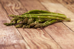 Asparagus Spears on A Rustic Background Stock Photo