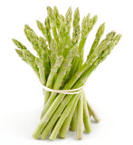 Asparagus sprouts. Isolated on white background Royalty Free Stock Photo