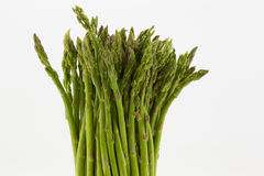 Asparagus Stalks Upright Against White Background Royalty Free Stock Images