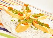 Asparagus starter Royalty Free Stock Image