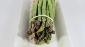 Asparagus in studio stock video