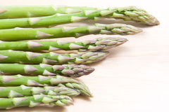 Asparagus in table Royalty Free Stock Image