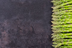 Asparagus on table with copy space Stock Image
