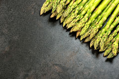 Asparagus on table with copy space Royalty Free Stock Photo