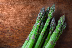 Asparagus on a table Stock Images