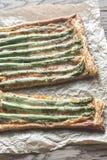Asparagus tart Royalty Free Stock Image