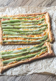Asparagus tart Stock Photo
