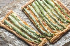 Asparagus tart Royalty Free Stock Photos