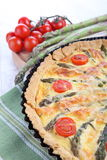Asparagus tart Stock Image