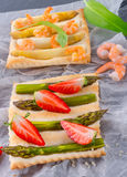 Asparagus tarte Royalty Free Stock Photo
