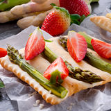 Asparagus tarte Stock Photo