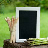 Asparagus time, chalkboard Stock Photo