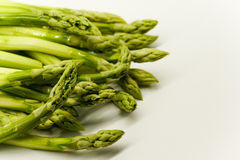 Asparagus tips Stock Photo