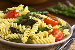Asparagus, Tomato and Pasta Salad Royalty Free Stock Photo