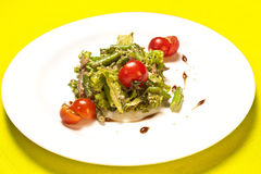 Asparagus and tomato salad Royalty Free Stock Image