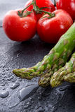 Asparagus, tomatoes Royalty Free Stock Photo
