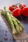 Asparagus, tomatoes Stock Photo