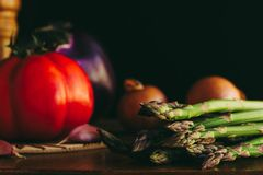 Asparagus and Vegetables stock photography