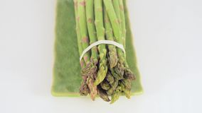 Asparagus with water stock video