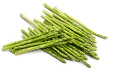 Asparagus on white Stock Images