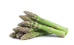 Asparagus on the white stock images