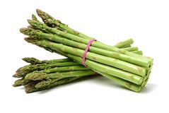 Asparagus on white background. Asparagus on the white background royalty free stock images