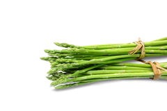 Asparagus on white background. Clipping paths. Stock Images