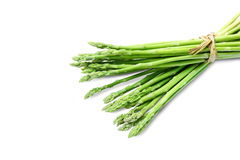 Asparagus on white background and clipping paths. Royalty Free Stock Photography