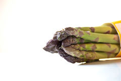 Asparagus on white background Stock Photos