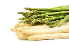 Asparagus white and green Stock Photos