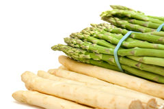 Asparagus white and green isolated Royalty Free Stock Photo